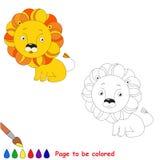 Orange toy lion. Kid game. Royalty Free Stock Photos