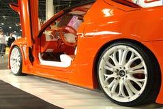 Orange Toyota Celica stock photo