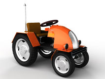 Orange tractor with a chrome tube №1 Stock Images