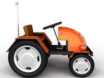 Orange tractor with a chrome tube №2 Royalty Free Stock Image