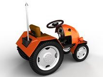 Orange tractor with a chrome tube №3 Stock Images