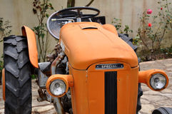 Orange tractor Royalty Free Stock Photos