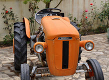 Orange tractor Stock Photography