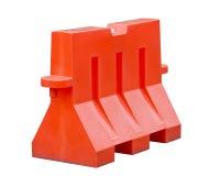 Orange Traffic Barrier Stock Images