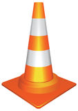 Orange traffic cone Royalty Free Stock Images