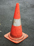 Orange traffic cone Royalty Free Stock Photo