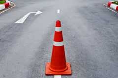 Orange traffic cone Royalty Free Stock Photos