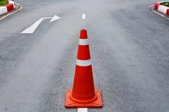 Orange traffic cone Royalty Free Stock Photos