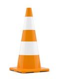Orange traffic cone Royalty Free Stock Image