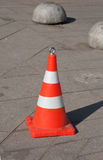 Orange traffic cone Stock Image