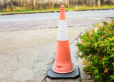 Orange Traffic Cone Stock Photo