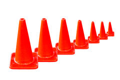 Orange traffic cone in white background Stock Photo