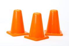 Orange Traffic cones. Isolated on white background Royalty Free Stock Image