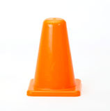 Orange Traffic cones. Isolated on white background Royalty Free Stock Photos