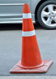 Orange traffic cones Stock Photos