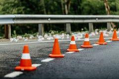 Orange traffic cones Royalty Free Stock Photos