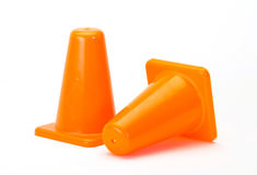 Orange Traffic cones on white Stock Photo