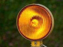 Orange traffic light Stock Images