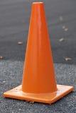 Orange trafikkottar Arkivbilder