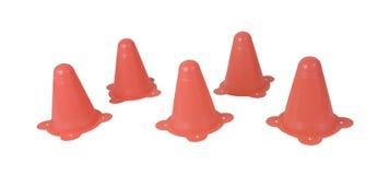 Orange trafikkottar Royaltyfri Foto
