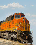 Orange train Royalty Free Stock Photography