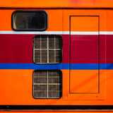 Orange train Royalty Free Stock Photo
