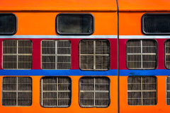 Orange train Stock Photography