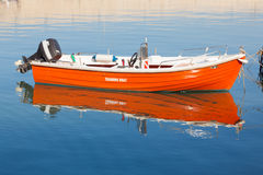 Orange training boat Royalty Free Stock Images