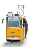 Orange Tram Stockfotos