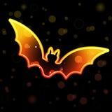 Orange Transparent Bat Royalty Free Stock Photography