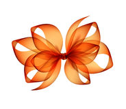 Orange Transparent Bow on White Background Royalty Free Stock Photo