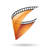 Orange Transparent Film Reel Icon Stock Images