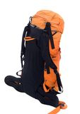 Orange travel backpack Stock Photo
