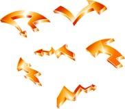 Orange tree-d arrows Royalty Free Stock Photography