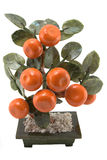 Orange tree in a flowerpot. Orange tree in a pot isolated royalty free stock photos