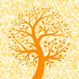 Orange Tree icon on Pixel Background. Vector illustration Vector Illustration