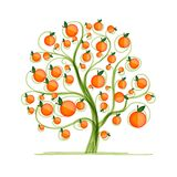 Orange tree for your design Royalty Free Stock Images