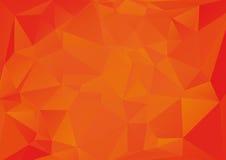 Orange triangle background Stock Image