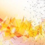Orange triangle design background, vector Stock Photos