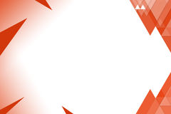 Orange triangle right side, abstract background Royalty Free Stock Images