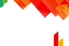 Orange triangle top side overlap, abstrack background Royalty Free Stock Images