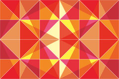 Orange triangles - abstract vector background. Various retro orange triangles in white small frames stock illustration