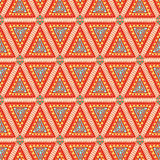 Orange triangles Stock Image