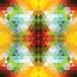 Orange triangulaire BackgroundÂŒ de mosaïque illustration stock