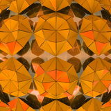 Orange triangulated shape study wallpaper Royalty Free Stock Photo
