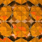 Orange triangulierte Formstudientapete vektor abbildung
