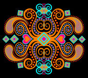 Orange tribal ethnic pattern Stock Images
