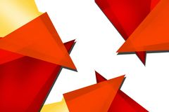 Orange tricolor overlaps, abstract background Stock Image
