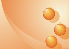 orange trois de Noël de billes Images libres de droits