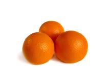 Orange trois sur le blanc. Image stock